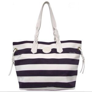 DOONEY & BOURKE Stripe Nylon Shopper Tote
